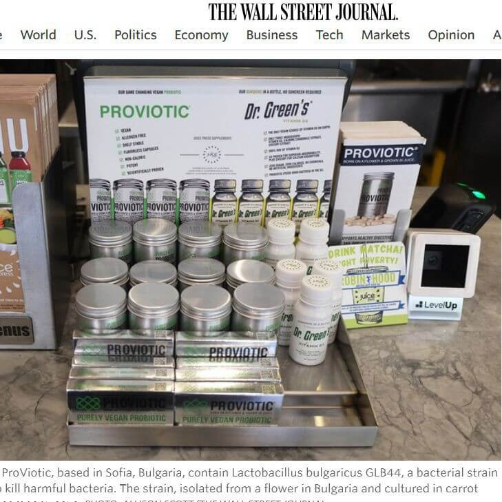 Wall Street Journal post about ProViotic